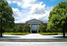 The Learned Memorial Library at Doshisha University, Kyotanabe, Japan.JPG