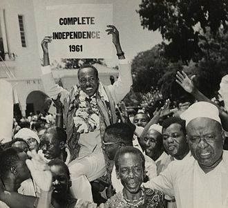 Julius Nyerere - Nyerere campaigning for Tanganyikan independence in March 1961