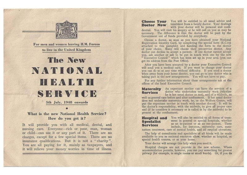 File:The New National Health Service leaflet for men and women leaving HM Forces to live in the United Kingdom.pdf