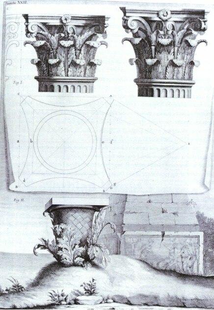 The Origin of the Corinthian Order, engraving