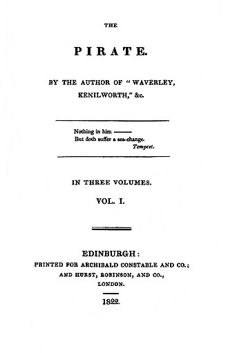 The Pirate (novel) - First edition title page