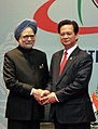 The Prime Minister, Dr. Manmohan Singh at a bilateral meeting with the Prime Minister of Vietnam, Mr. Nguyen Tan Dung, during the ASEAN Summit, in Hanoi, Vietnam on October 30, 2010 (2).jpg
