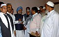 The Prime Minister, Dr. Manmohan Singh meeting with the delegation of weavers at Varanasi in Uttar Pradesh on March 14, 2008.jpg
