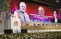 The Prime Minister, Shri Narendra Modi addressing the India-Japan Annual Summit, in Mahatma Mandir, Gandhinagar, Gujarat on September 14, 2017.jpg