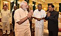 The Prime Minister, Shri Narendra Modi meeting the State Chief Ministers and other dignitaries before eleventh Inter-State Council Meeting, at Rashtrapati Bhavan, in New Delhi on July 16, 2016 (1).jpg