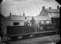 The Princess locomotive engine, Ffestiniog railway NLW3363950.jpg