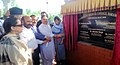 The Union Minister for Health & Family Welfare, Shri J.P. Nadda and the Chief Minister of Jammu and Kashmir, Ms. Mehbooba Mufti laying the foundation stone for the new Medical College, at Baramulla, in Jammu and Kashmir.jpg