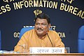 The Union Minister for Tribal Affairs, Shri Jual Oram briefing the media about the initiatives and achievements of his Ministry, in New Delhi on September 26, 2014.jpg