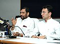 The Union Minister of Chemicals & Fertilizers and Steel, Shri Ram Vilas Paswan addressing a Press Conference on the welfare major for steel PSU employees, in New Delhi on August 22, 2008.jpg