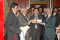 The Vice President, Shri Mohd. Hamid Ansari releasing DVDs (Audio) on Monastic Chants and Monastic Mask Dance, during his visit to Namgyal Institute of Tibetology, in Sikkim on October 29, 2009.jpg