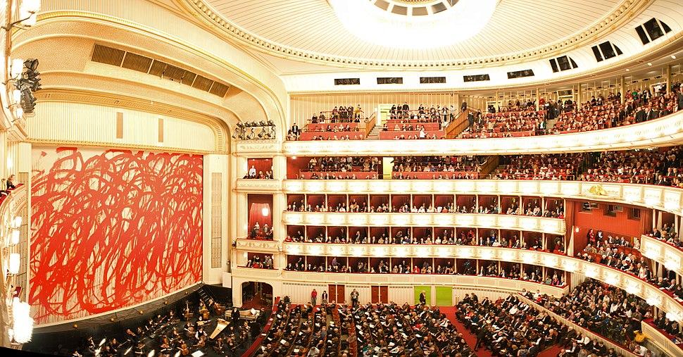 The Vienna State Opera (Wiener Staatsoper) interior. Vienna, Austria, Western Europe