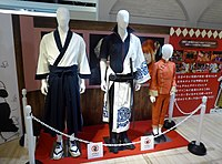 "The clothes which Shun OGURI, Masaki SUDA and Kanna HASHIMOTO wore in ""Gintama 2"".jpg"