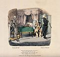 The dance of death; Death sees a patient. Colour lithograph Wellcome V0042021.jpg