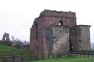 Bastian Pagez - Tutbury Castle, the prison of Bastian and Christine in England