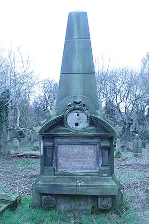 David Hay (artist) - The grave of David Ramsay Hay, Warriston Cemetery, Edinburgh