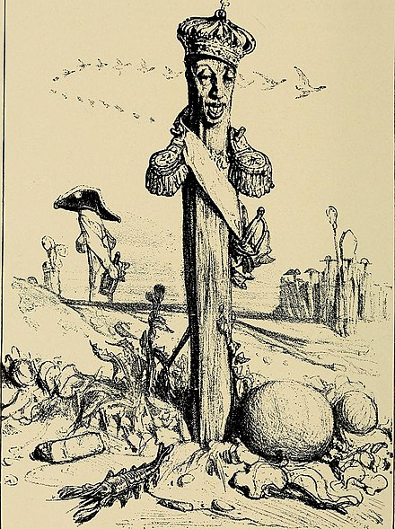 The Pious Monarch, a caricature of Charles X The history of the nineteenth century in caricature (1904) (14596964667).jpg