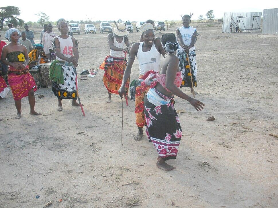 The native African dance at Dakawa,Morogoro,Tanzania