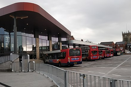The redeveloped Wigan bus station in 2018 The new 2018 Wigan Bus Station.jpg