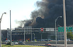 The pentagon in flames moments after a hijacked jetliner crashed into building at approximately 0930 010911-M-CI426-015.jpg