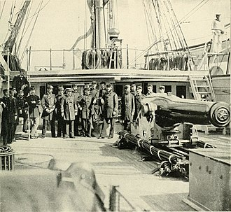 "CSS Alabama - ""The gun that sunk the Alabama"" (from The Photographic History of The Civil War)"