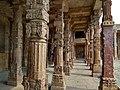 The pillars throng the compound of Qutub minar.jpg