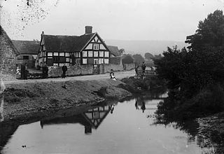 The river and bridge, Minsterley (salop)