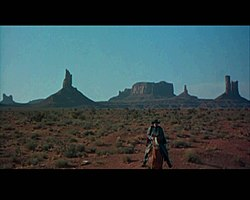 The film stressed the incredible vastness of the fabled Comancheria, including the Staked Plains, Llano Estacado
