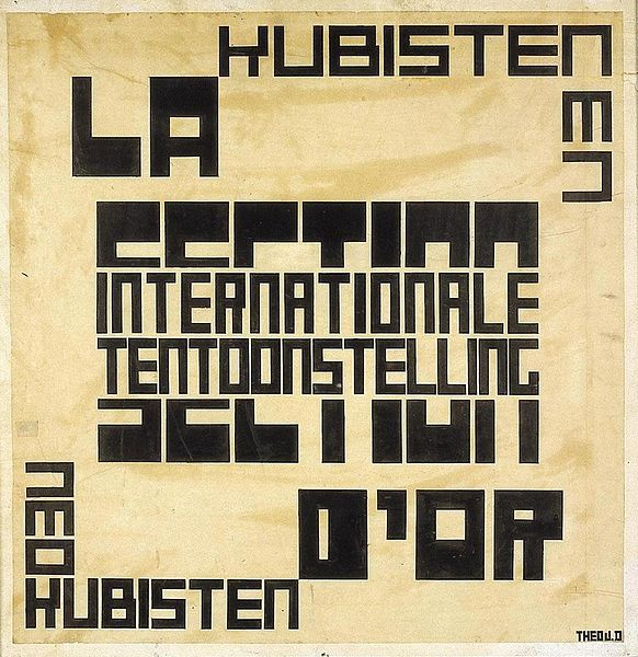 File:Theo van Doesburg Design for a poster.jpg