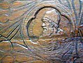 Theodor Aman - Decebal - efigie sculptata pe blatul mesei.jpg