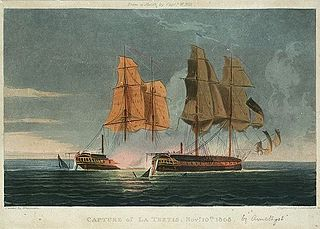 minor naval engagement of the Napoleonic Wars, in which a British frigate defeated and captured a French frigate