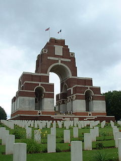Thiepval Memorial cemetery located in Somme, in France