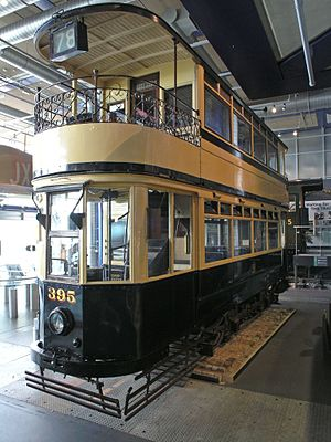 Birmingham Corporation Tramways - Tram no 395 seen preserved at Thinktank, Birmingham Science Museum.