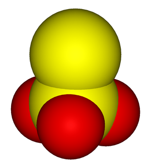 Thiosulfate - A space-filling model of the thiosulfate anion