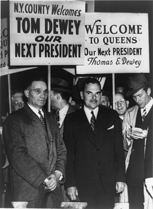 United States presidential election, 1948 - Dewey during a campaign tour in New York