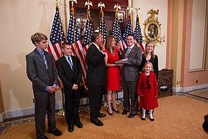 Thomas Massie - Massie being sworn into office by Speaker of the House John Boehner on November 13, 2012.
