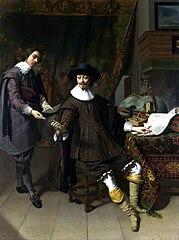 Constantijn Huygens and his (?) Clerk