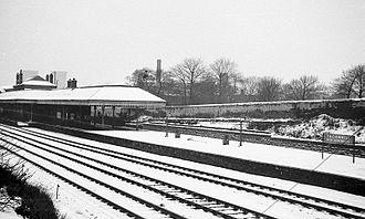 Thornhill railway station - December 1961