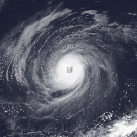 Hurricane Tina, the longest lasting Pacific hurricane east of the international dateline Tina 1992-09-30 1801Z.png