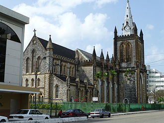 Holy Trinity Cathedral, an Anglican Christian cathedral in Trinidad and Tobago TnT PoS Cathedral of the Holy Trinity (back view).jpg