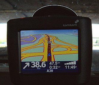 Turn-by-turn navigation - A TomTom device
