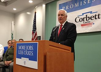Tom Corbett - Corbett in November 2013 during his reelection campaign tour