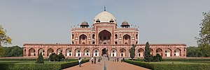 Origins and architecture of the Taj Mahal - Humayun's tomb surmounted by a dome