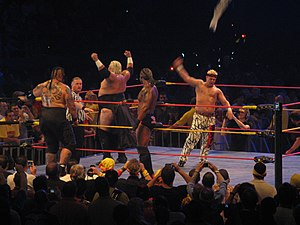 Too Cool - Grandmaster Sexay and Rikishi against Orlando Jordan and Umaga in Australia, 2009.
