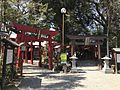 Toriis of Aoi Inari Shrine and Miyajidake Shrine in Aoi Aso Shrine.jpg
