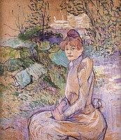 Toulouse-Lautrec - Woman in Monsieur Forest's Garden, 1891.jpg
