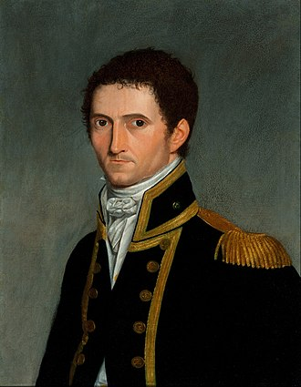 Matthew Flinders - Portrait by Antoine Toussaint de Chazal, painted in Mauritius in 1806-1807