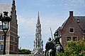 Tower of Brussels Grand Place Townhall.jpg