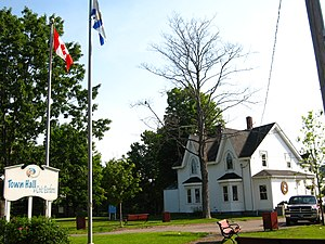 Parrsboro - The Town Hall and Civic Gardens