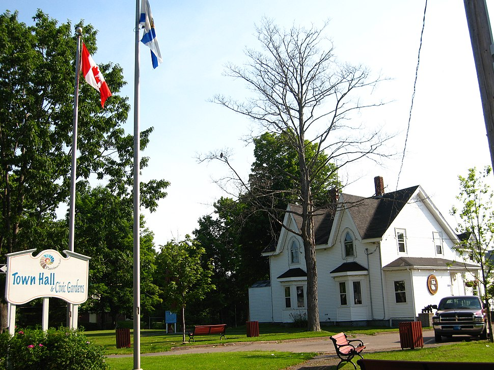 Town Hall and Civic Gardens of Parrsboro, Nova Scotia - 08673