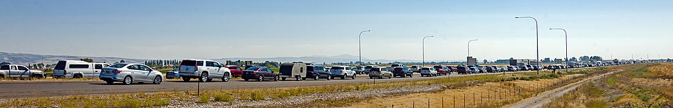 Traffic backed up on I-15/US 26 south of Idaho Falls